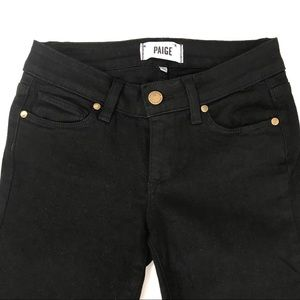 PAIGE Size 24 Black Denim with Ankle Zippers